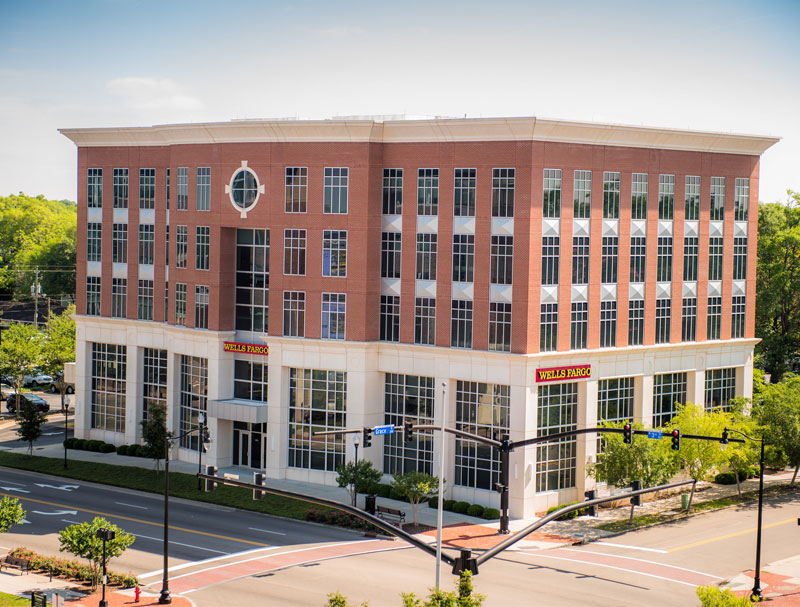WK Dickson, an engineering firm, is moving its office from Market Street to the Wells Fargo-anchored building at 300 N. Third St. in downtown Wilmington. (Courtesy photo by Will Page for Cape Fear Commercial)