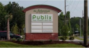 The Arboretum at Surf City, which has a Hampstead address, is anchored by a Publix grocery store that opened in May. (Photo courtesy of Cape Fear Commercial)