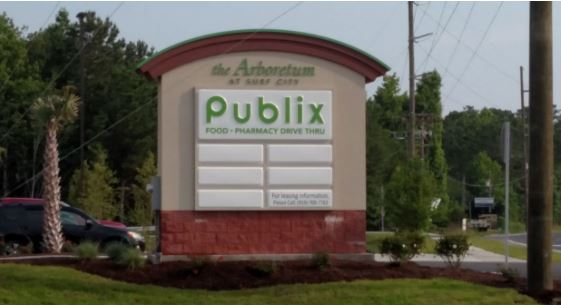 The Arboretum at Surf City, which has a Hampstead address, is anchored by a Publix grocery store that opened in May.