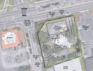 Site plan for the Shops on Market Street, a new development to be located at 5120 Market St.
