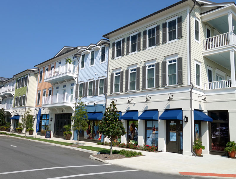 The three-story, mixed-use property built in 2016 was sold to an outside investor last week. (Photo courtesy of Cape Fear Commercial)
