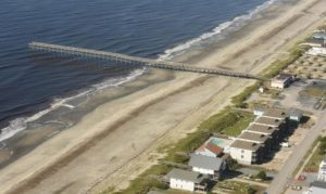 The Holden Beach Fishing Pier is pictured Sept. 19, a few days after Hurricane Florence moved through the area. (Photo: Ken Blevins/StarNews)