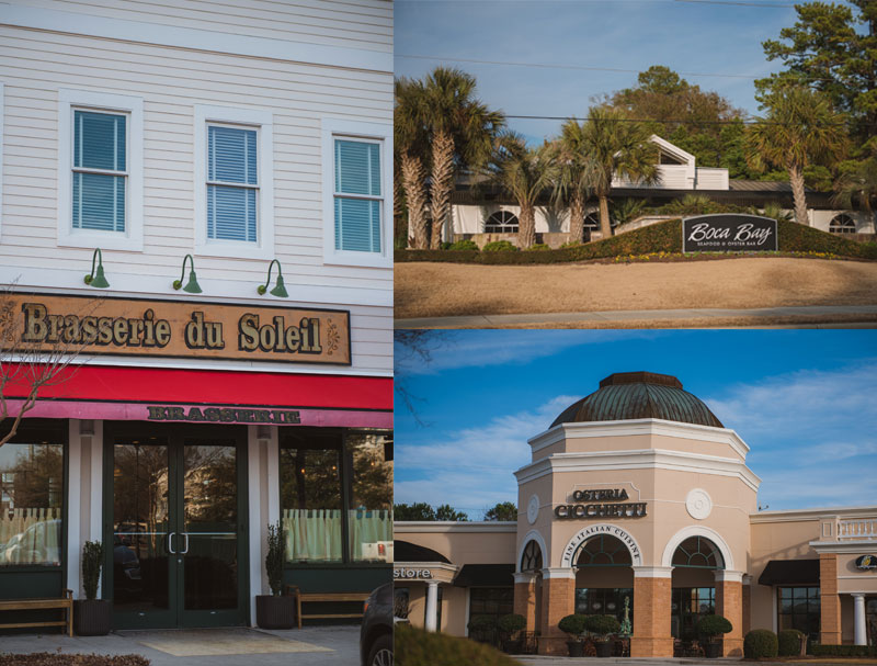Photo collage of Brasserie du Soleil, Boca Bay and Osteria Cicchetti