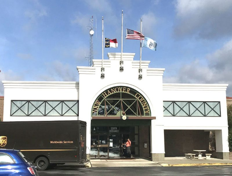 Image of entrance to New Hanover County Government Center
