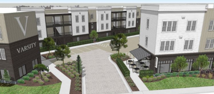 Rendering of The Varsity Apartment Project